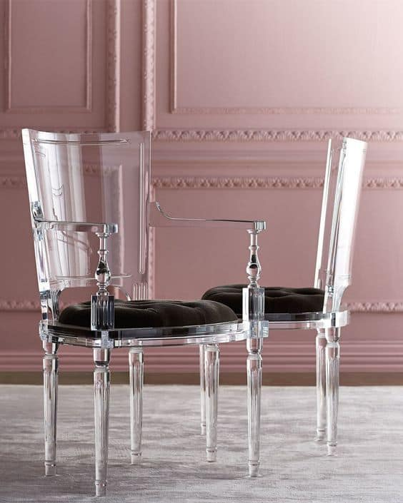 Lucite furnishings and accessories